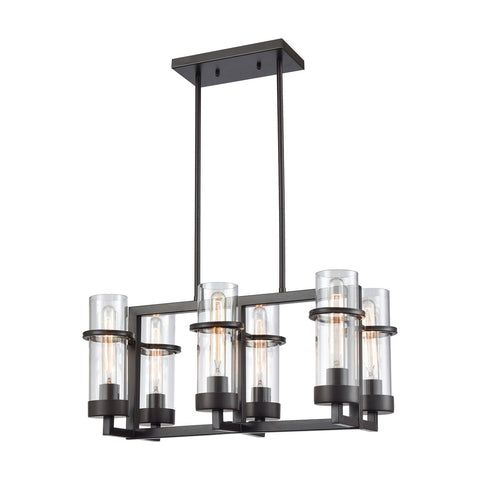 Holbrook 6 Billiard/Island Chandelier in Oil Rubbed Bronze