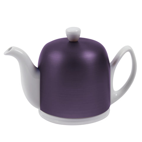 Salam Teapot White with Amethyst Lid – 4 cups