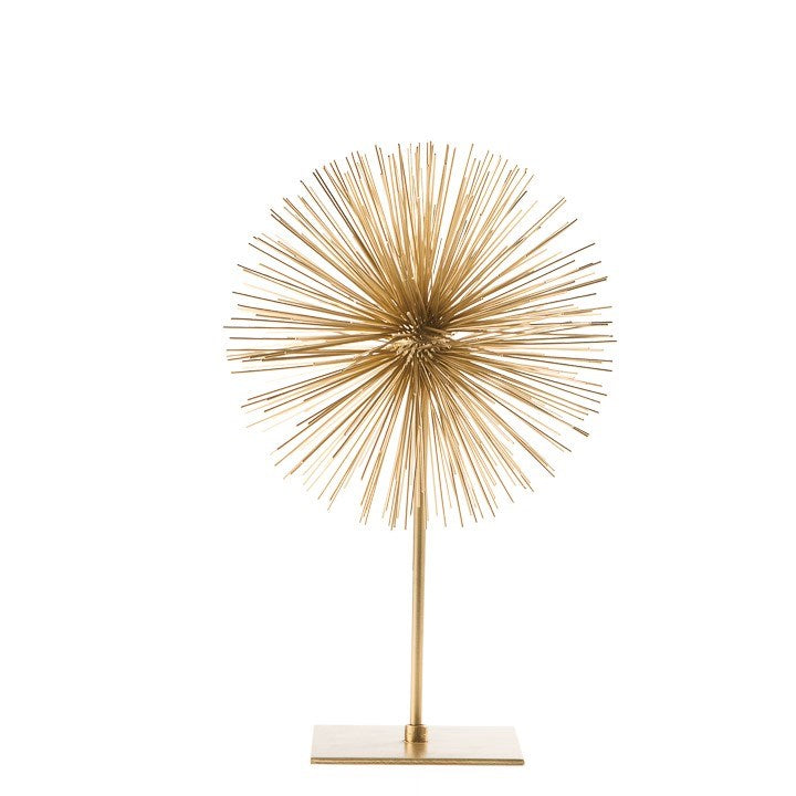 Gold 7 and 4 Set of Two Shabby Chic Elegant Classy and Sophisticated Spike Decor Sphere Sculpture Home Decoration Large and Small