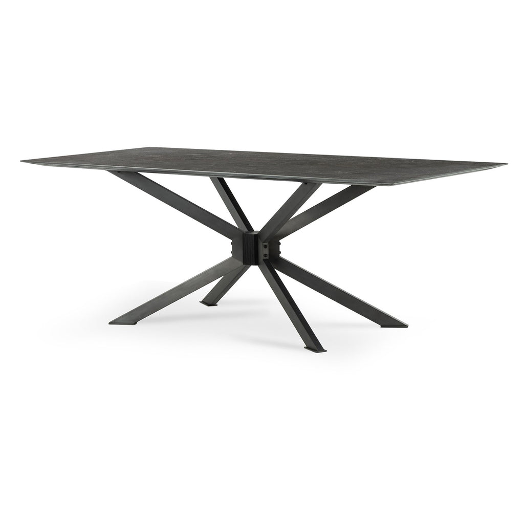 Spider Dining Table In Bluestone
