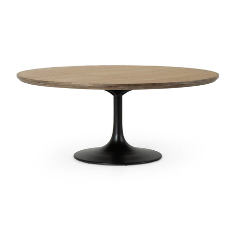 Powell Dining Table In Bright Brass Clad