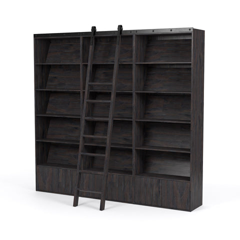 Bane Triple Bookshelf & Ladder in Various Colors
