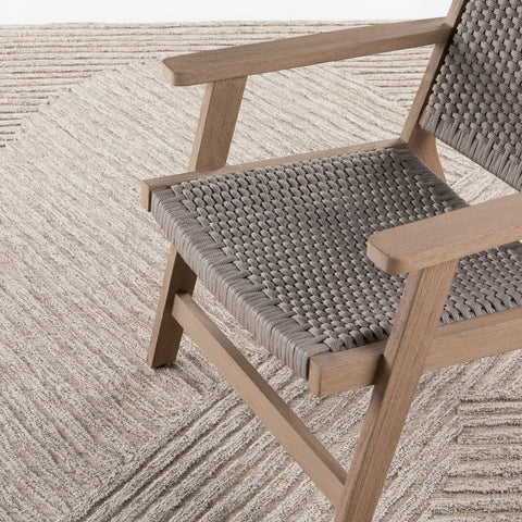 Chasen Outdoor Rug in Heathered Natural by BD Studio