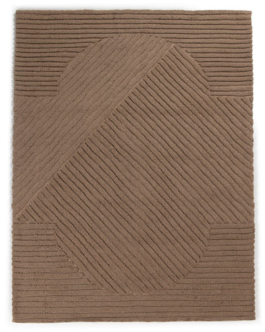 Chasaen Outdoor Rug in Sand Taupe by BD Studio