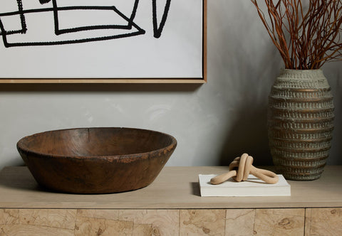 Found Wooden Bowl by BD Studio