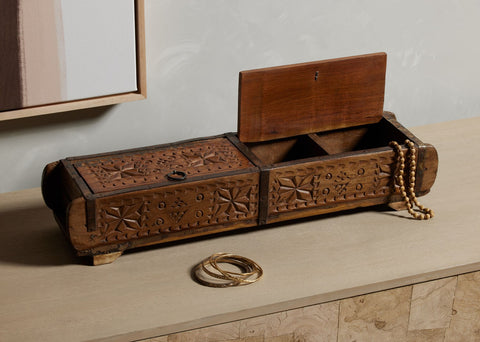 Found Carved Box by BD Studio
