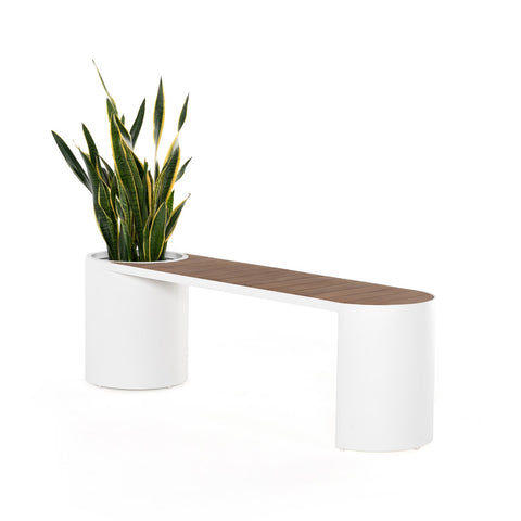 Kylen Bench with Planter