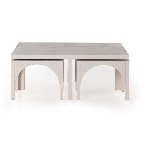 Amara Coffee Table w/Nesting Arch Stools by BD Studio