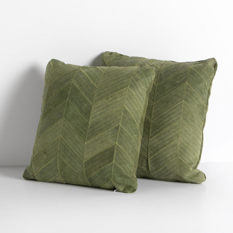 Sevanne Chevron Pillow Set in Montana Peridot by BD Studio