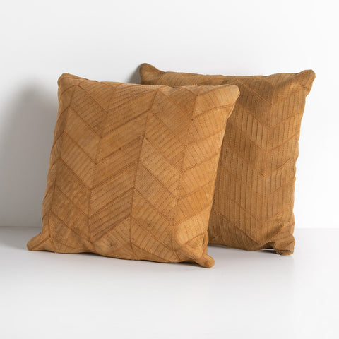 Sevanne Chevron Pillow Set in Montana Harvest by BD Studio