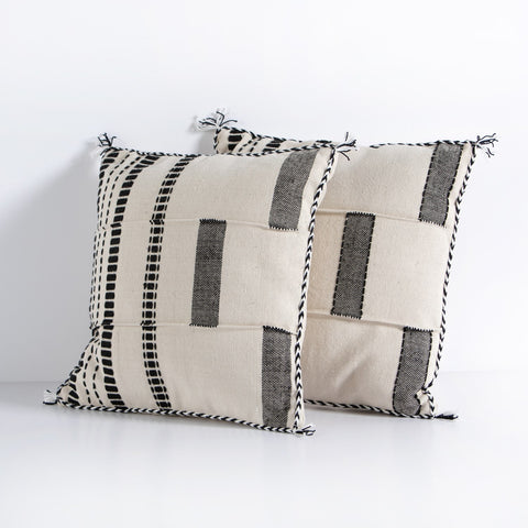 Irwin Stripe & Block Pillow by BD Studio