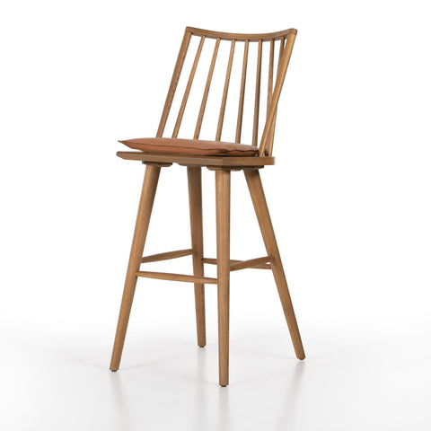 Lewis Windsor Bar Stool with Cushion by BD Studio