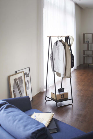 Tower Free Standing Hanger in Black design by Yamazaki