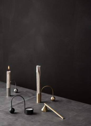 Balance Tealight Holder in Black Brass design by Ferm Living