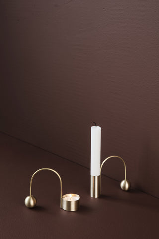 Balance Candle Holder in Brass design by Ferm Living