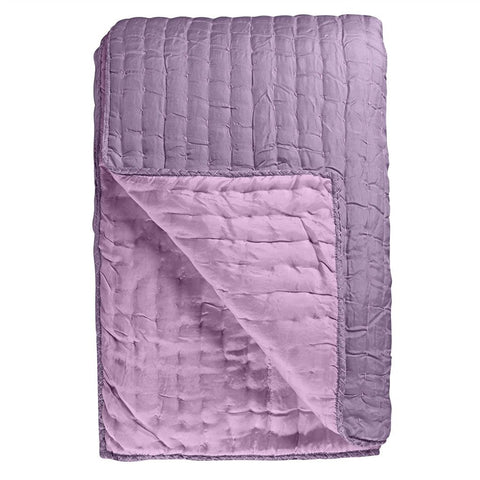 Chenevard Damson & Magenta Silk Quilt and Shams design by Designers Guild