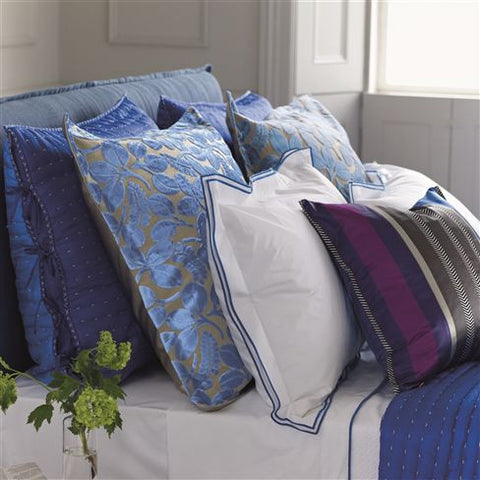 Astor Cobalt Bedding design by Designers Guild