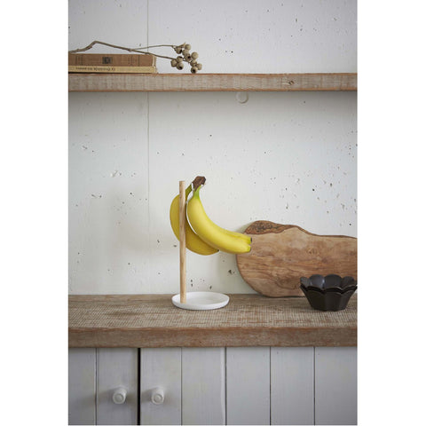 Tosca Banana Holder - Wood and Steel by Yamazaki