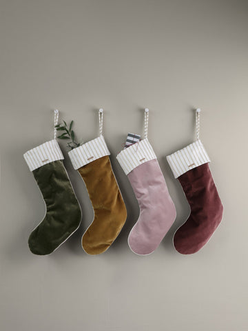 Christmas Velvet Stockings in Various Colors