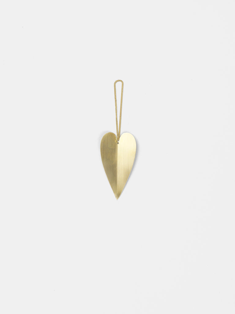 Heart Brass Ornaments (set of 4) design by Ferm Living