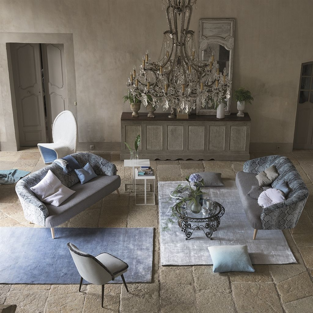 Phipps Sky Rug in Ombre Pale Blue design by Designers Guild