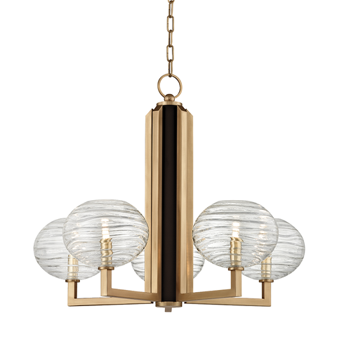 Breton 5 Light Chandelier by Hudson Valley Lighting