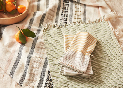 Panalito Placemat in Sage by Minna