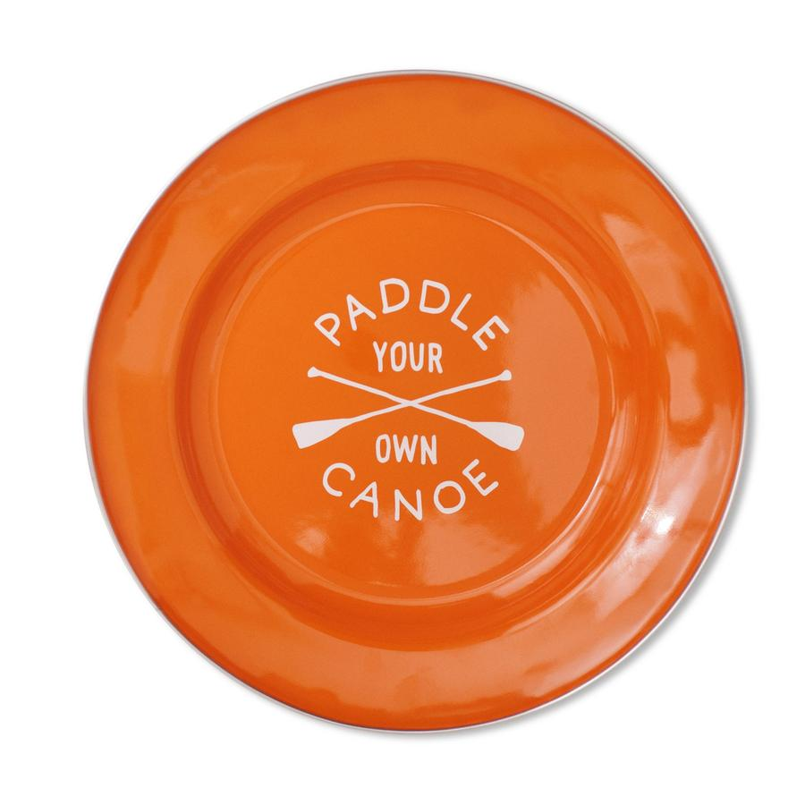 Paddle Your Own Canoe Enamel Plate design by Izola