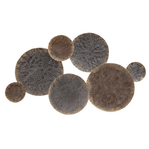 Aeros Floating Disc Metal Wall Decor