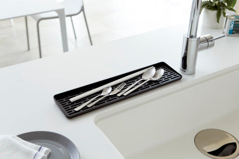 Tower Sink Side Glass Drainer in Various Colors by Yamazaki