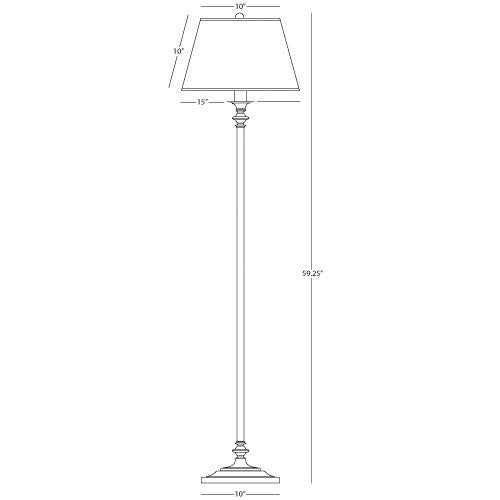 Wilton Collection Club Floor Lamp design by Robert Abbey
