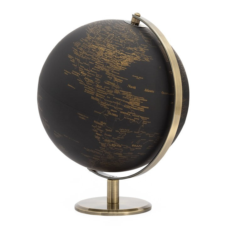 Latitude Vintage Black World Globe