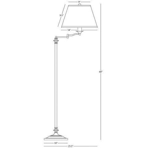 Wilton Collection Swing Arm Floor Lamp by Robert Abbey