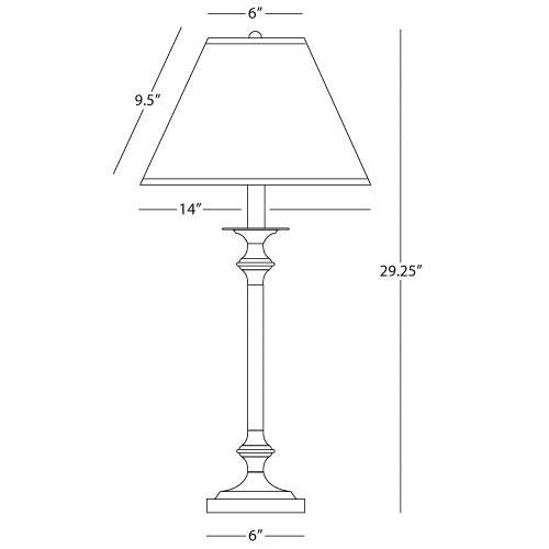 Wilton Collection Table Lamp design by Robert Abbey