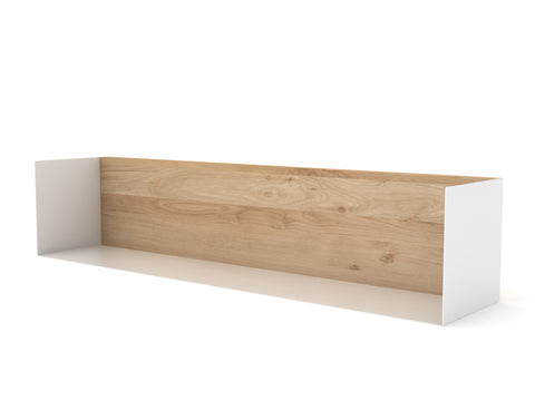 Oak U shelf Large in White