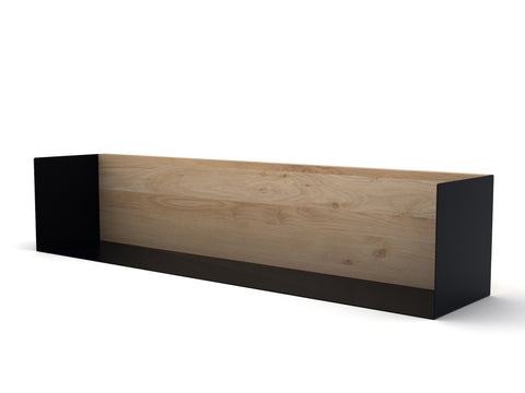 Oak U shelf Large in Black