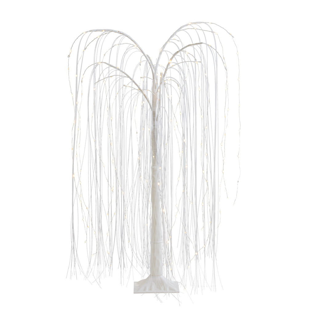 White Willow Freestanding LED Decor Tree