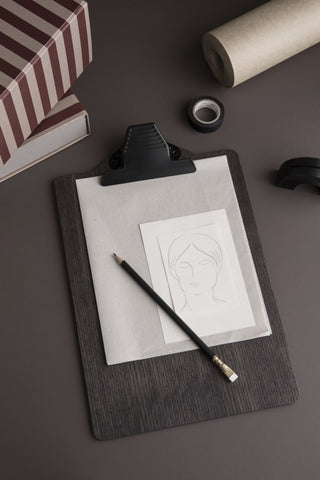 Clipboard A5 in Stained Black design by Ferm Living