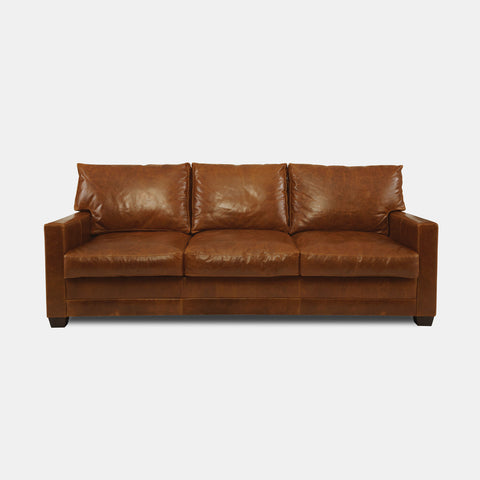 Lawson Leather Sofa in Sequoia Bombay