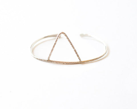Jessa Triangle Cuff Bracelet design by Agapantha
