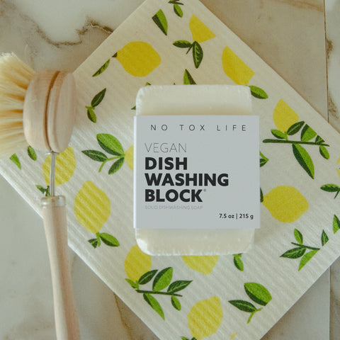 Dish Block - Zero Waste Dish Washing Bar - Free of Dyes and Fragrance by No Tox Life