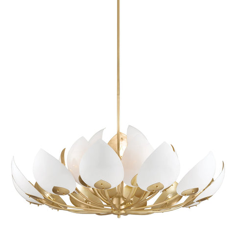 Lotus 21 Light Chandelier by Hudson Valley