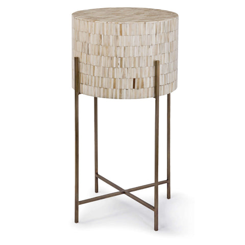 Bone Drum Table in Antique Brass design by Regina Andrew