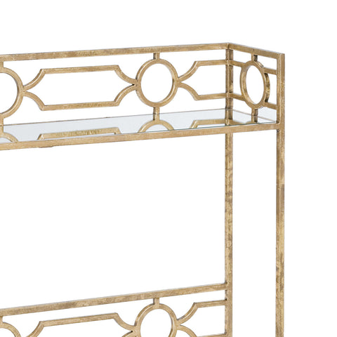 Geometric Shelf Console Table design by Regina Andrew