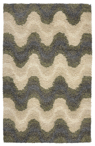 Heather Groove Rug in Grey & Green by BD Home