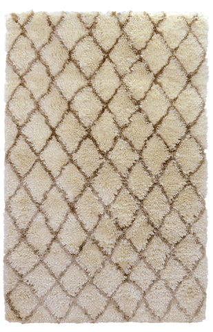 Diamond Ritz Shag Rug in Ivory by BD Home