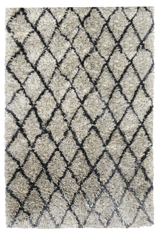 Diamond Ritz Shag Rug in Light Grey by BD Home