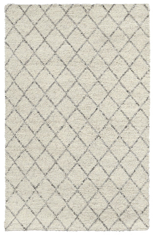 Diamond Looped Wool Rug in Ivory by BD Home