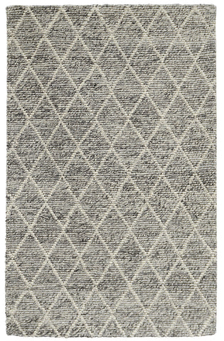 Diamond Looped Wool Rug in Grey by BD Home