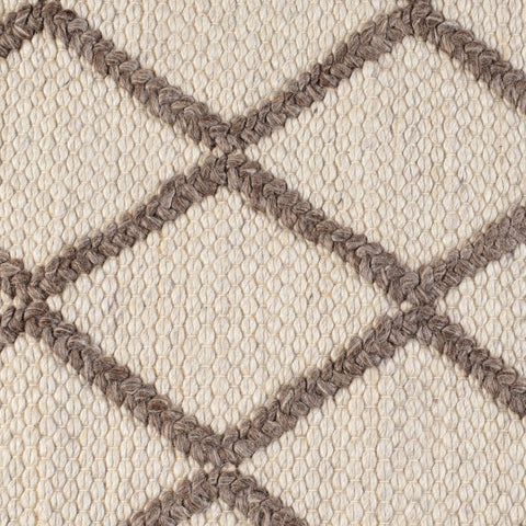 Mia Wool Rug in Cream & Mocha design by Classic Home